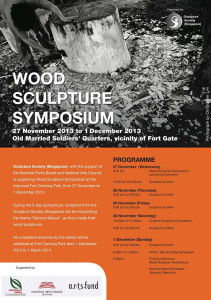 Wood Sculpture symposium poster